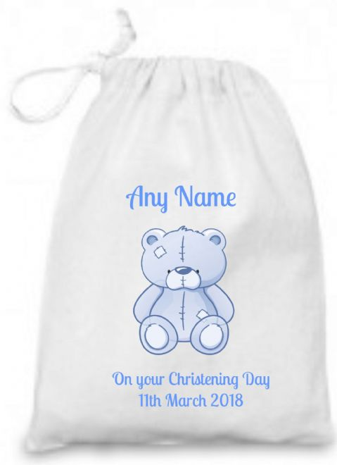 Christening Gift (Blue Teddy) Bag